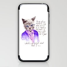 Fashion Mr. Cat Karl Lagerfeld and Chanel iPhone & iPod Skin