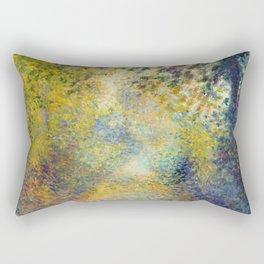 "Auguste Renoir  ""In the Woods"" Rectangular Pillow"