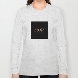 Name and initial of a boy Michael in golden letters Long Sleeve T-shirt