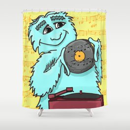 Jazz loving Yeti Shower Curtain
