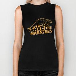 Save The Manatees I - Nature & Wildlife Gift Biker Tank
