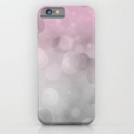 Pink  Grey Soft Gradient Bokeh Lights iPhone Case