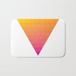 Orange Magenta Triangle Gradient Bath Mat