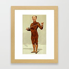"""""""He insists that his pen is mightier than his sword"""" Framed Art Print"""