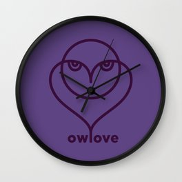 Owl Love / Ow! Love Wall Clock