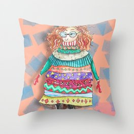 When it´s cold... Throw Pillow