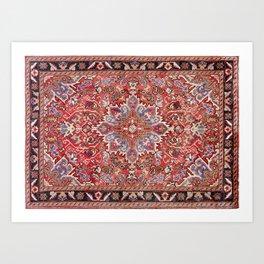 Persian Carpet Art Print