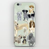 dogs iPhone & iPod Skins featuring Dogs by Augustwren