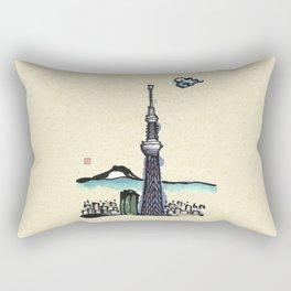 Tokyo Sky Tree Rectangular Pillow