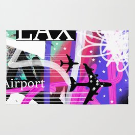 LAX Los Angeles airport code Rug
