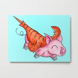 Eurypterus Piggy Metal Print