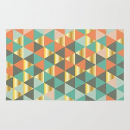 Golden triangles Rug