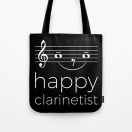 Happy clarinetist (dark colors) Tote Bag