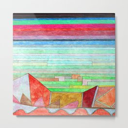 Paul Klee View into Fertile Country Metal Print