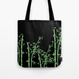 Bamboo design green - black Tote Bag