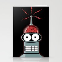 bender Stationery Cards featuring Bender by Betmac