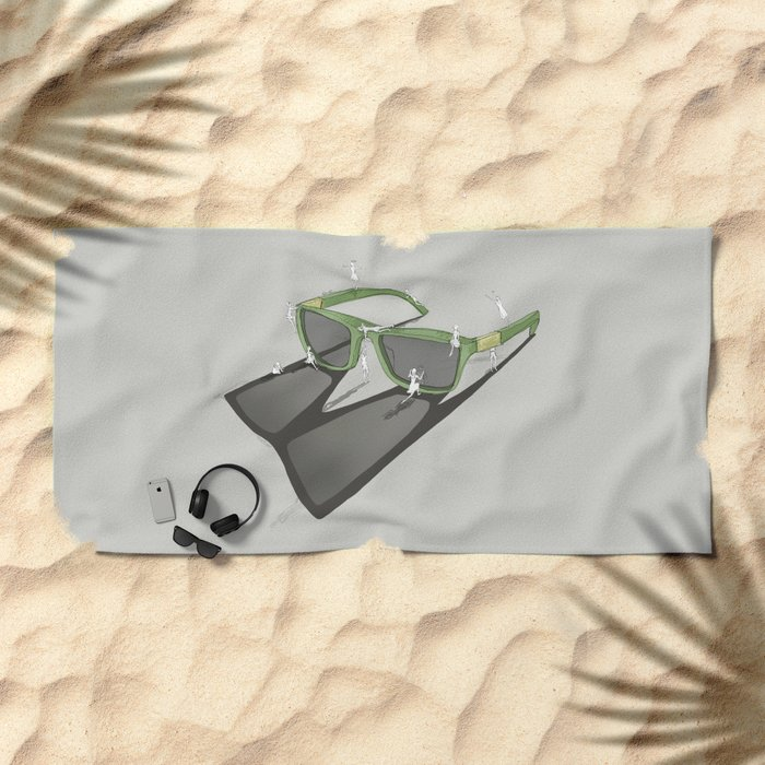Change your view Beach Towel