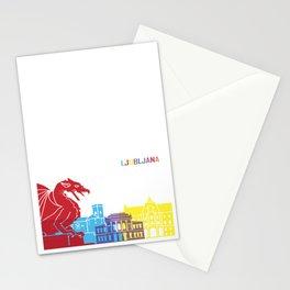 Ljubljana skyline pop Stationery Cards