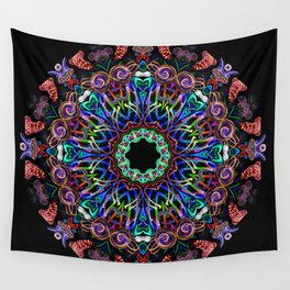LED Hoop Mandala w/ Fire Wall Tapestry