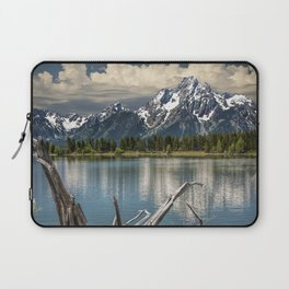 Tree Stump on the Northern Shore of Jackson Lake at Grand Teton National Park Laptop Sleeve
