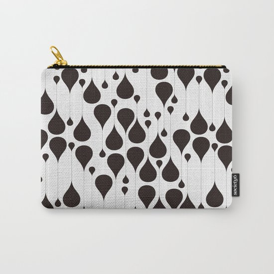 Monochrome waterdrops pattern. Carry-All Pouch