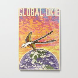Global Okie 'Flycatcher' Poster Metal Print