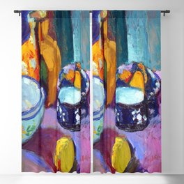 Henri Matisse Dishes and Fruit Blackout Curtain