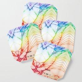 Rainbow Broken Damaged Cracked out back White iphone Coaster