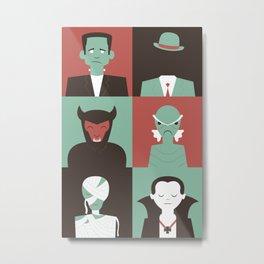 Monster Mash Green Metal Print