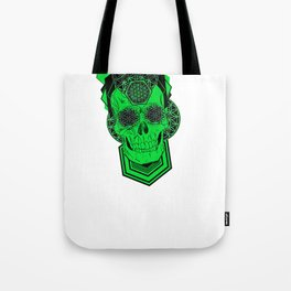 Bursting Geo Skull Tote Bag