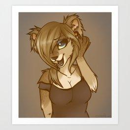 Sexy Cougar Art Print