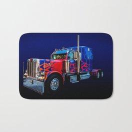 Optimus Prime Blue Bath Mat