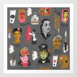 Women who painted Art Print
