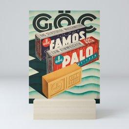 ancienne affiche goc waschmittel seife in konsum Mini Art Print