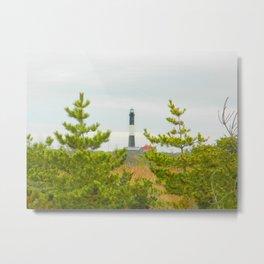 Fire Island lighthouse Photography Art Metal Print