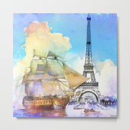 The boarding of the Eiffel Tower Metal Print