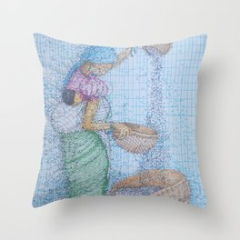 Separate The Chaff Throw Pillow