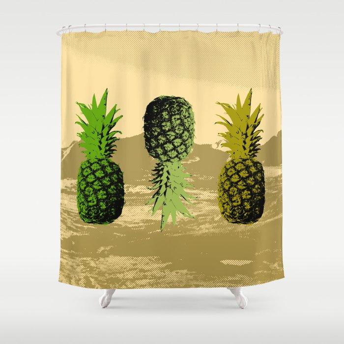 Pineapple Mountain Shower Curtain