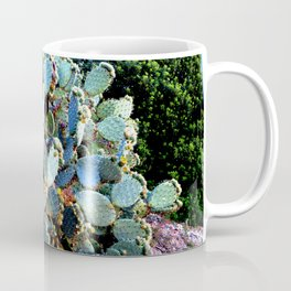 Invasion of colorful Cactus green blue red Coffee Mug