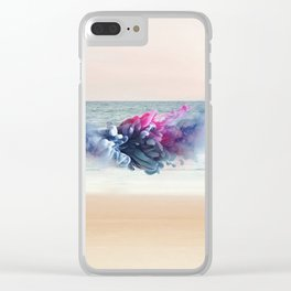 Little woman at the sea Clear iPhone Case
