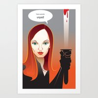 kill bill Art Prints featuring Kill Bill by Martynas Juchnevicius