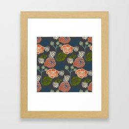 Gardenia Dark Framed Art Print