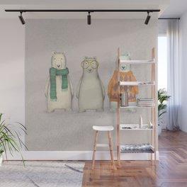 The Three Gentlemen Well-Dressed Bears. Wall Mural