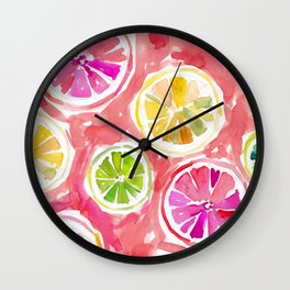 Citrus Juice Wall Clock