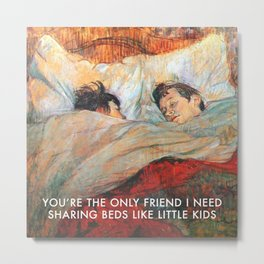 Sharing Beds Metal Print