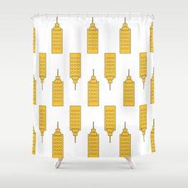 The Yellow Skyscraper Shower Curtain