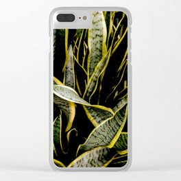 Serpentine Sansevieria Clear iPhone Case