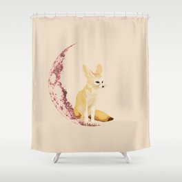 lonely Fennec (pink) Shower Curtain
