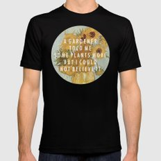 Hunting for Sunflowers MEDIUM Mens Fitted Tee Black