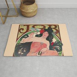 Art Nouveau Alphonse Mucha Job Detail Rug